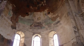 Only a small part of the frescos once masterly painted have survived during centuries.
